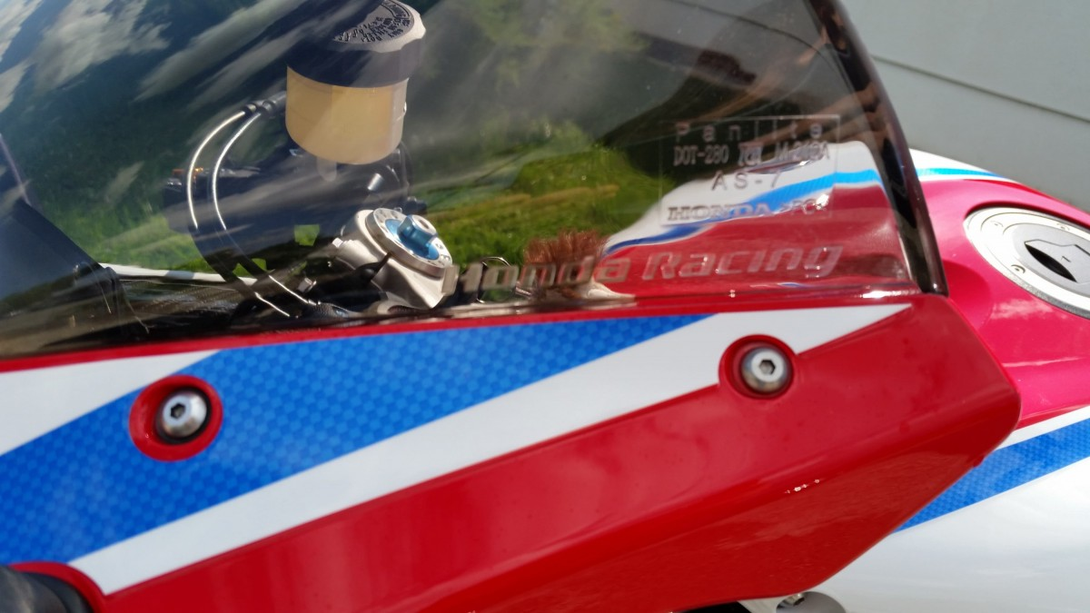 Fireblade SP mit Honda Racing Scheibe
